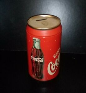 XXL Coca Cola Sparbüchse Spardose Blechdose Metall Höhe 21 cm Rarität!
