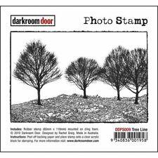 SALE NEW Darkroom Door Rubber Stamp Photo Tree Line