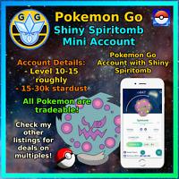 Shiny Spiritomb - Pokemon Account Go - PTC Mini Acc - Trade able!!