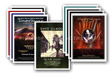 DAVID GILMOUR - PINK FLOYD 10 promotional posters - collectable postcard set # 2