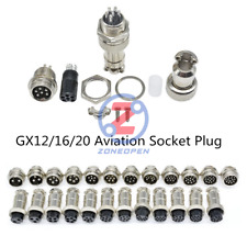 1/5/10Sets GX12/16/20 2-15Pin Panel Aviation Plug Socket Male&Female Connector