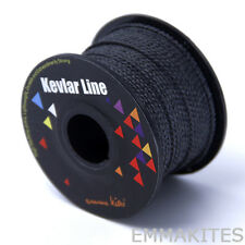 Black Solid Braid Kevlar Line with 4 Stands Core Outdoor Tactical Survival Rope