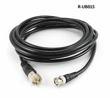 15ft RG8x Coax UHF (PL259) Male BNC Male Plug 50 ohm Antenna Ham Radio Cable