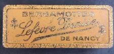 boite métal ancienne lithographiée bergamottes de nancy LEFEVRE Denise