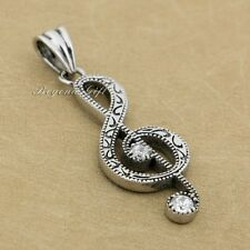 Music Note 316L Stainless Steel Musical Treble G Clef Symbol Pendant 7E005D JP