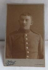 Militaria Cabinet Foto Portrait Soldat um 1900  Nürnberg