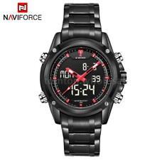 NAVIFORCE Mens LCD Digital Analog Quartz Date Sport Waterproof Wrist Watch C6D6