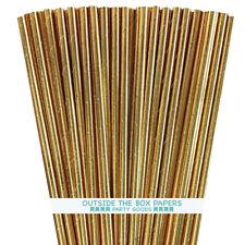 100 Gold Foil Paper Straws