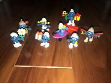 Lot Of 8 Smurf Figures vintage PVC
