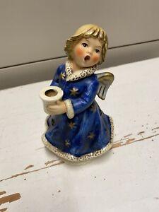 Goebel Weihnachtsengel Kerzenhalter Engel mit Spieluhr HX328  1966 Blau