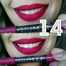No 14 Menow KISS PROOF Powdery Matte Soft Lipstick Smooth Lip Crayon(Red Purple)