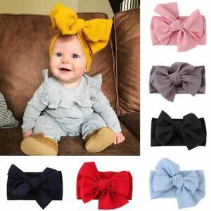 Newborn DIY Headband Cotton Elastic Baby Bowknot Hair Band Girls Bow-knot UK