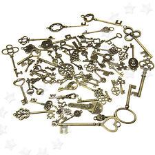 More details for 70pcs antique vintage retro bronze old fashion keys pendants decor gift