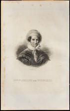 Portrait (1838) - Comtesse Bellini née Tornielli di Vergano - Gravure Italie