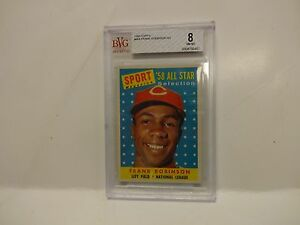 1958 Topps Frank Robinson All Star Cincinnati Reds Card #484 BVG 8 NM-MT