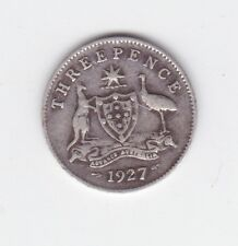1941 Sterling Silver Threepence 3P Coin Australia W-458
