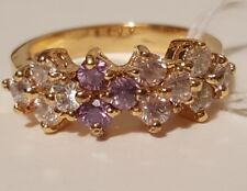 Violet and Clear CZ Ombre  Vermeil Ring by the Suzanne Somers Collection