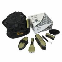 Bentley Deluxe 8pc Equestrian Horse Grooming Kit Boxed Black Gold Brush