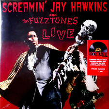 SCREAMIN' JAY HAWKINS AND THE FUZZTONES Live LP Ltd Num RE Red and Black Garage