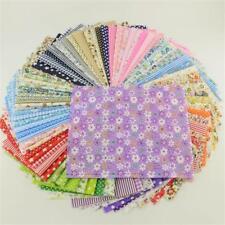 50pc Fabric Bundle Sewing Quilting Tissue Cloth Stash Cotton Patchwork DIY Craft