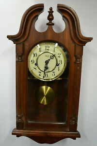 Sligh Chime Wall Clock Franz Hermle Movement made in W. Germany * RUNS & CHIMES