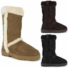 Unbranded Faux Suede Snow, Winter Pull On Shoes for Women