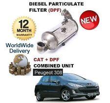 Pour PEUGEOT 308 1.6 HDI 2007 - & GT particules diesel DPF & cat Kit Filtre catalytique