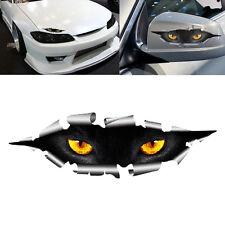 Funny Peeking 3D Big Cat Eyes For Car Bumper Window Vinyl Decal Black Sticker