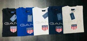 GANT Men's Authentic Crew Neck Short Sleeve Cotton Regular Fit T Shirt on sale