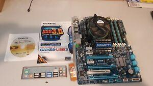 GIGABYTE GA-X58-USB3 Socket LGA 1366 Intel Motherboard + i7 950 CPU+ 16GB RAM