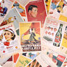 32Pcs Fashion Postcards Retro Album Poster Advertising Movie Travel Post Cards