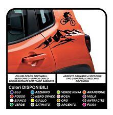 Adesivi per Jeep Renegade montagna e bici sportello stickers portiera renegade