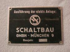 """Deutsche Bundesbahn """"Innenbeschriftungsschild"""" aus Metall"""