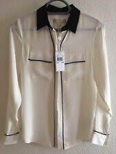 Bnwt Michael Kors Ecru Silk Shirt Size XXS