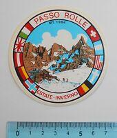 ADESIVO STICKER VINTAGE AUTOCOLLANT AUFKLEBER PASSO ROLLE MT.1984 8x8 cm