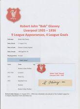 Bob classey Liverpool 1935-1936 estremamente rara originale firmato a mano Taglio/Card