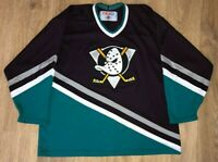Anaheim Mighty Ducks rare vintage CCM NHL Hockey jersey size XL