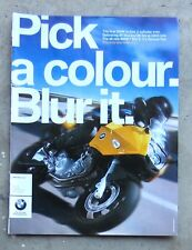 BMW F800S Genuine 2007 Motorcycle Magazine Page Sales Ad Advertisement Brochure