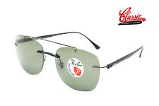 Ray-Ban RB 4280 601/9A 55 Rimless Light Ray Polarized Green Lens Sunglasses
