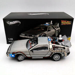 Hot Wheels 1/18 Elite Back To The Future Time Machine Diecast Car Edition BCJ97