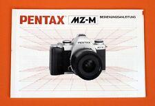 Pentax MZ-M originale Bedienungsanleitung deutsch neuwertig