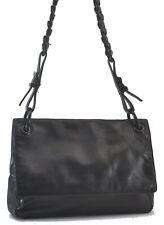 Authentic Prada Leder Kunststoff Kette Schultertasche schwarz c4630