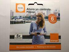 Tarjeta SIM/Micro/Nano de Prepago ORANGE 5€ Saldo 4G+'TARIFA LLAMA' SIN CUOTAS