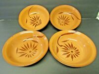 Mexican Pottery Terracotta Redware Red Clay Bowls Set of 4!