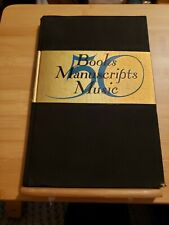 50 Books Manuscripts Music Scribner Book Store New York Hbk. 1937, Catalogue 111