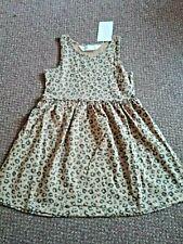 NEW girls h+m animal print summer dress 4 - 5 - 6  YEARS  - bnwt