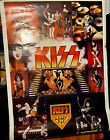 Vintage 1977 KISS ARMY Collage Poster 42 X 58 One Stop Posters Aucoin