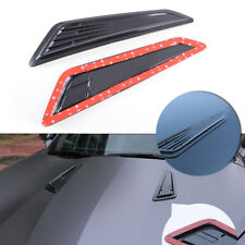 SS Style Black Bonnet Decorative Hood Vent Scoop Covers For 16-18 Chevy Camaro