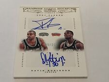 Panini National Treasures 2012-13 Champions Tony Parker David Robinson 9/25