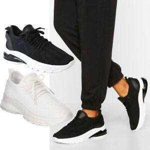 Women Running Sock Trainers Ladies Lace Up Mesh Walking Sneaker Sport Shoes Size